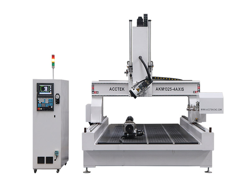 4 Axis CNC with ATC AKM1325-4A