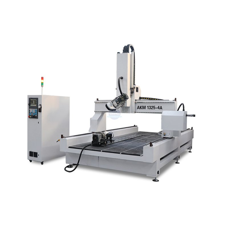 What is the advantage of a four axis cnc router over a three axis cnc router