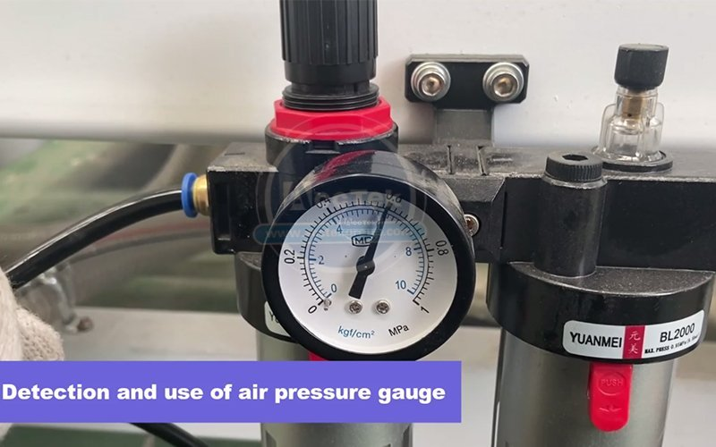 How to use air pressure gauge and water pump