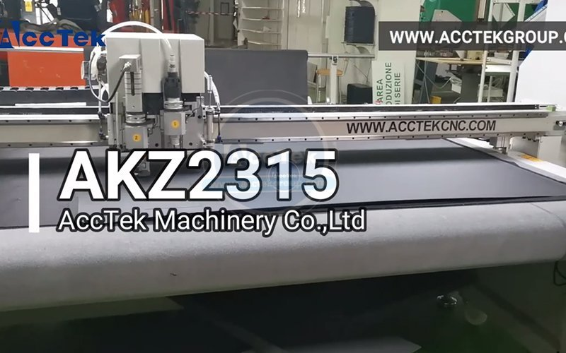 CNC oscillating knife cutter machine with auto feeding and CCD