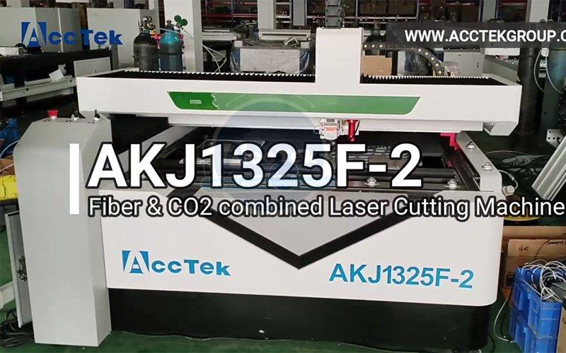 Metal and non-metal mixed laser cutting machine AKJ1325F-2