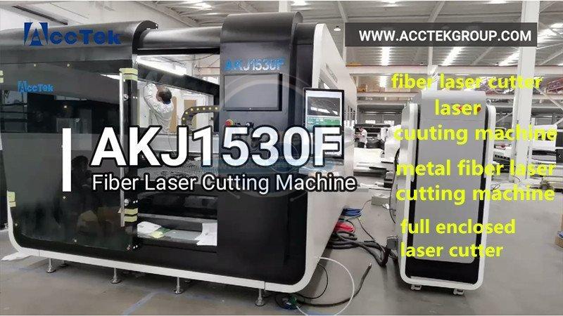 Full enclosed fiber laser cutting machine AKJ1530F