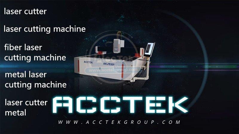 High quality metal fiber laser cutting machine AKJ1530F2