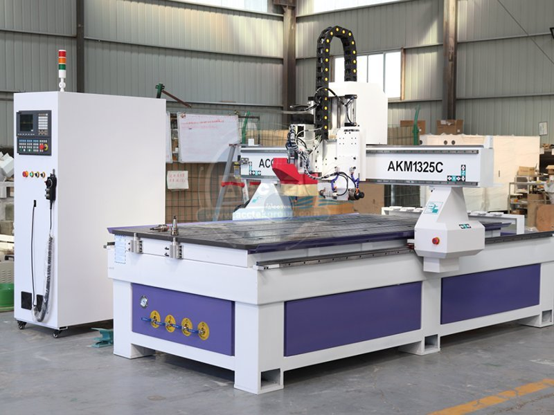 ATC 3 axis cnc router with a horizontal spindle AKM1325C
