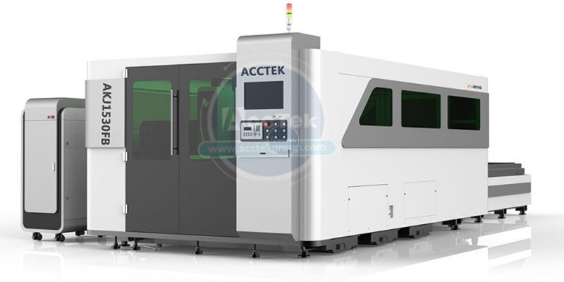 ACCTEK full enclosed laser with 2nd table & rotary axis