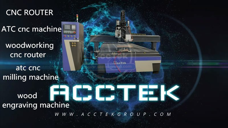 Heavy duty ATC CNC router with horizontal spindle AKM2030C