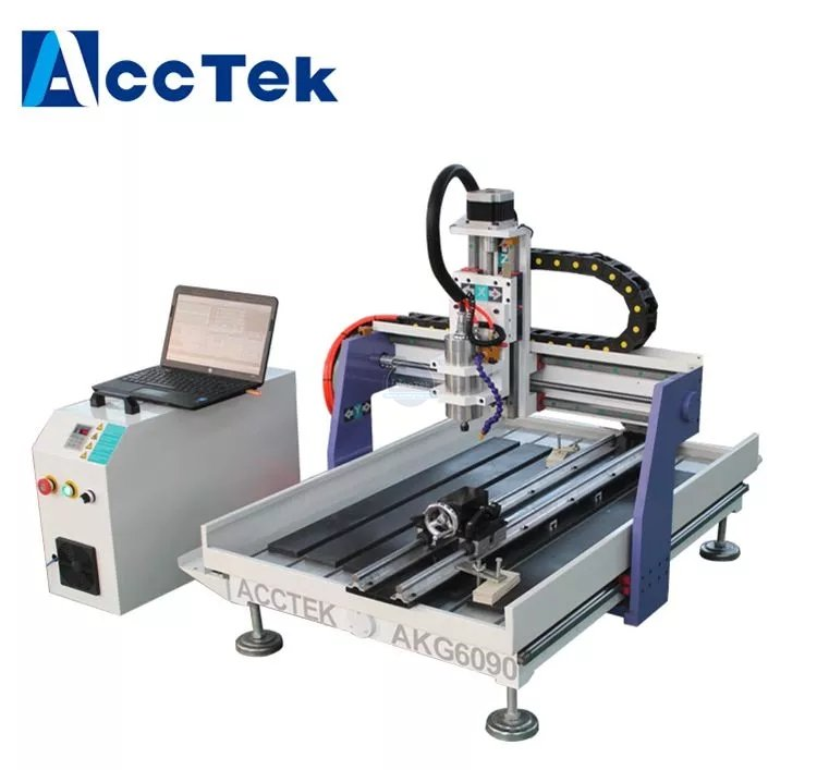 AccTek mini multi-use cnc router engraving machine AKG6090