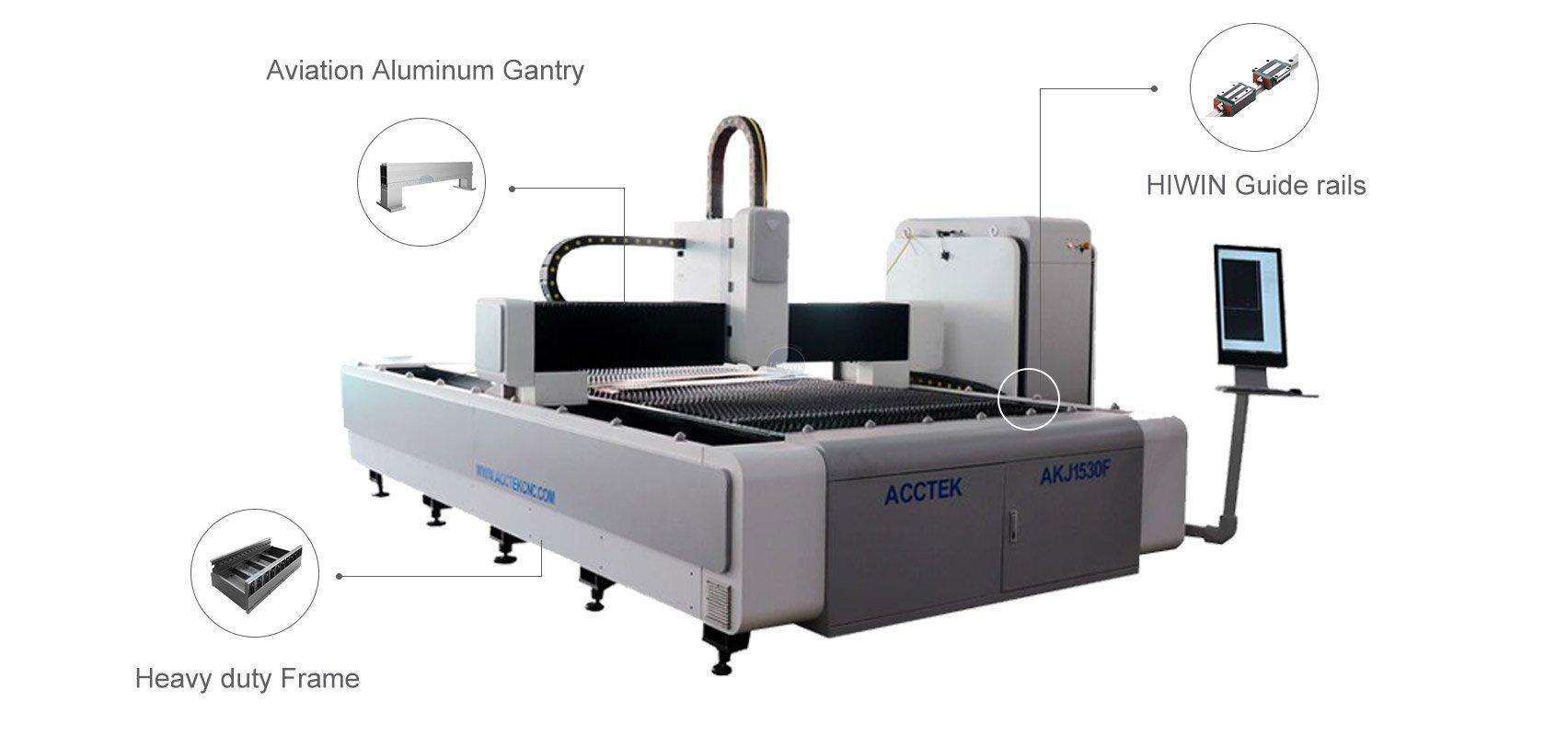 Machine de Découpe Laser à Fibre avec Cadre lourd
