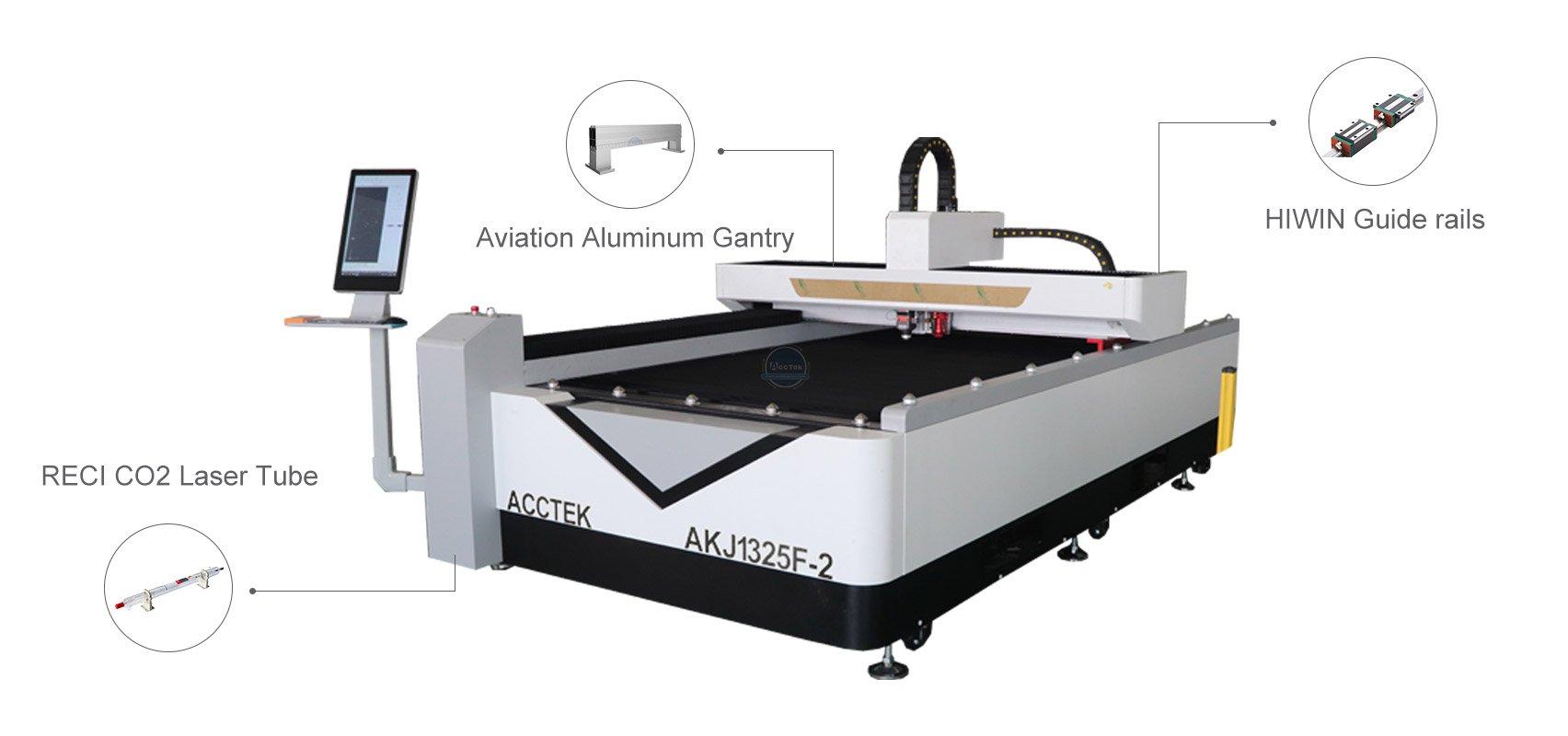 CO2 и волоконный лазерный резак AKJ1325F-2