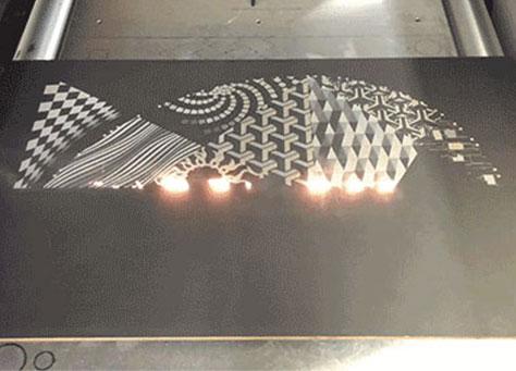 Machine de marquage laser CO2 entièrement fermée de grande taille