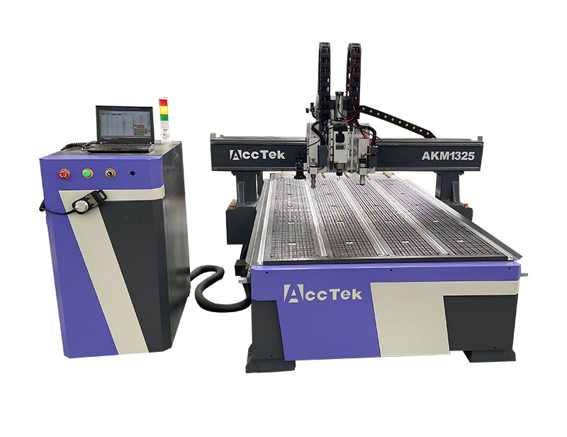 CNC Router AKM1325 with oscillating knife and CCD