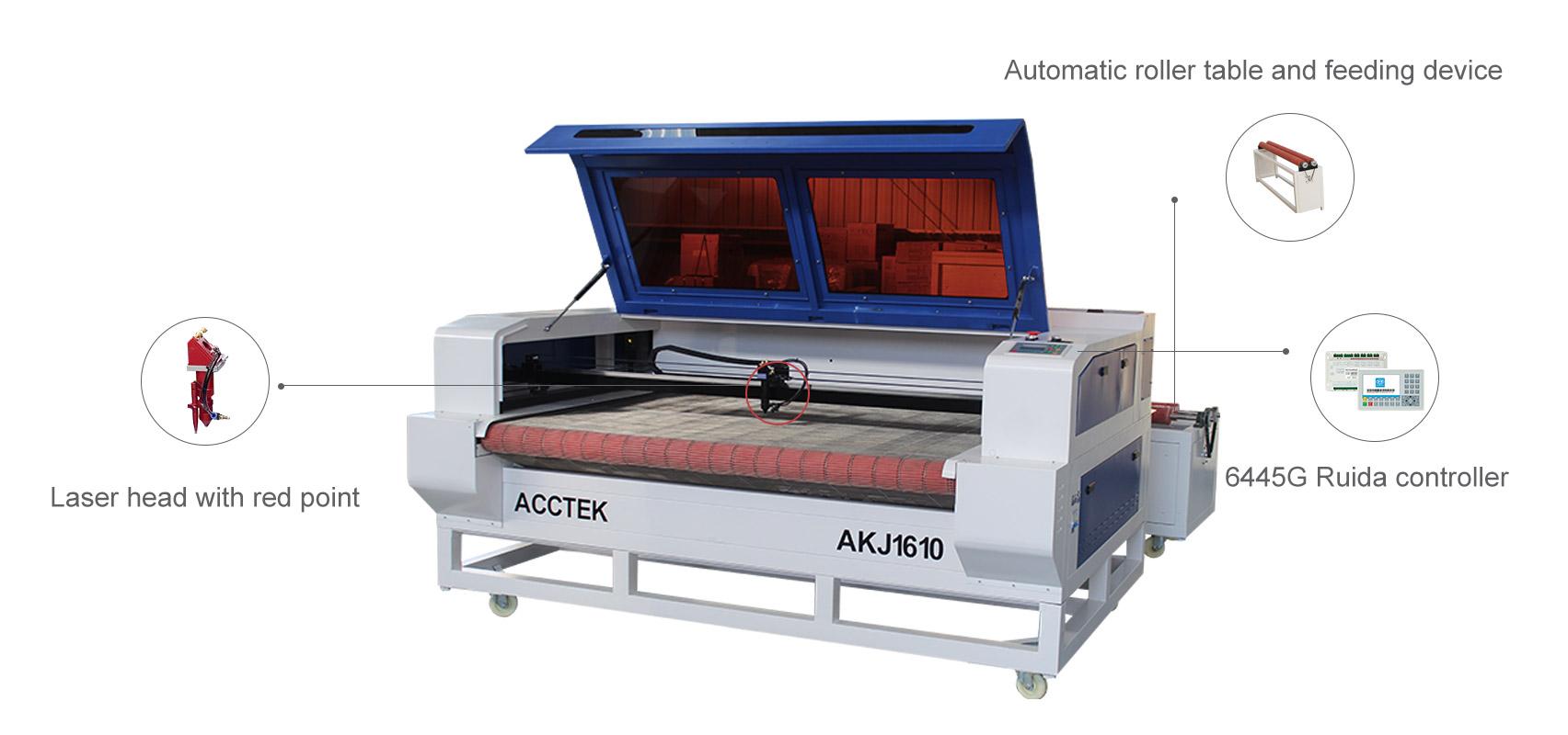 Machine de découpe laser avec dispositif d'alimentation automatique