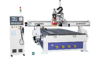 Automatic tool change cnc router with cutting saw