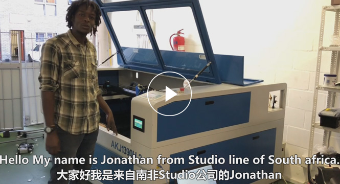 Praise comes from Jonathan's laser machine in South Africa