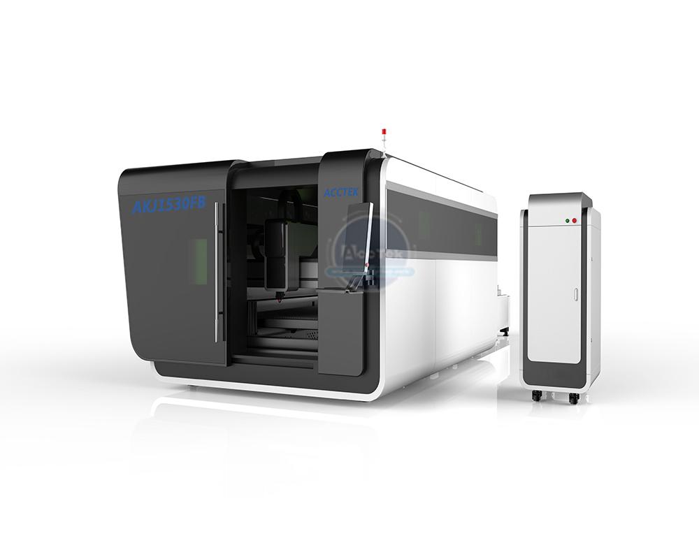ACCTEK AKJ1530FB European quality fully enclosed optical fiber laser cutter