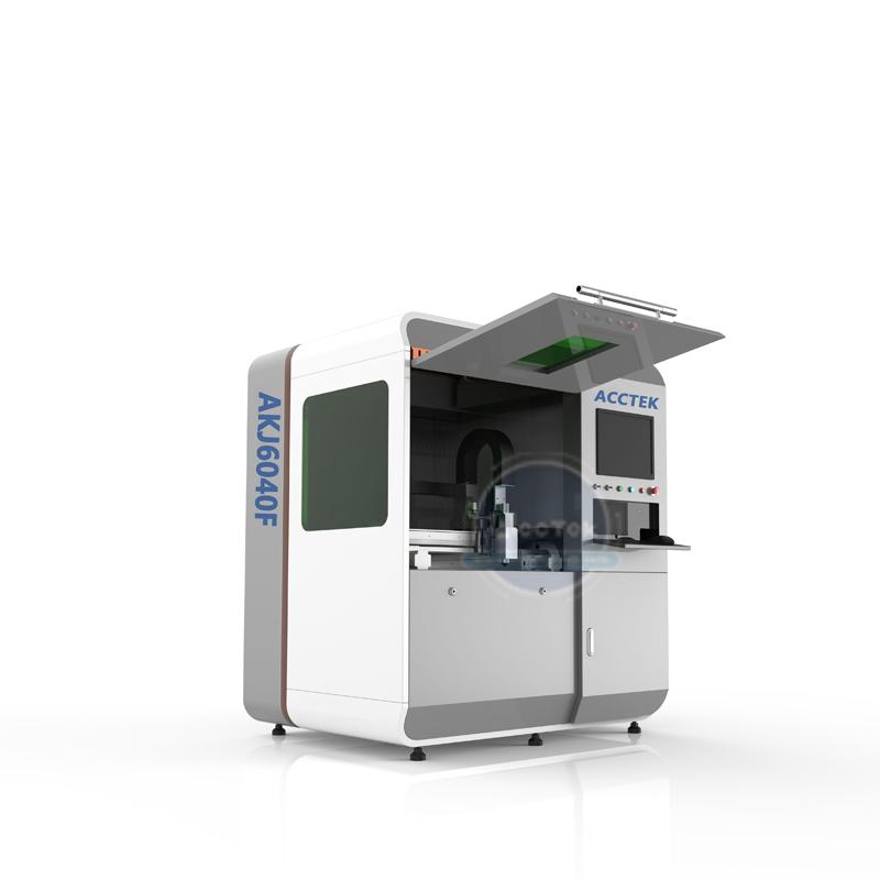 AKJ1390F/AKJ6040F Small size precision fiber laser cutting machine