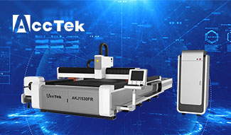 Fiber laser cutting machine AKJ1530FR with automatic rotating shaft