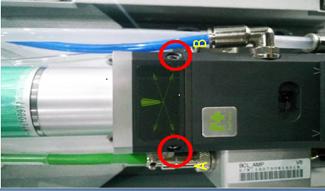 Comment ajuster le laser au centre de la buse?
