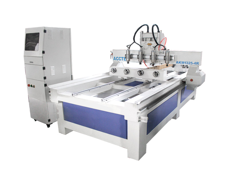 Multi heads cnc router with rotary