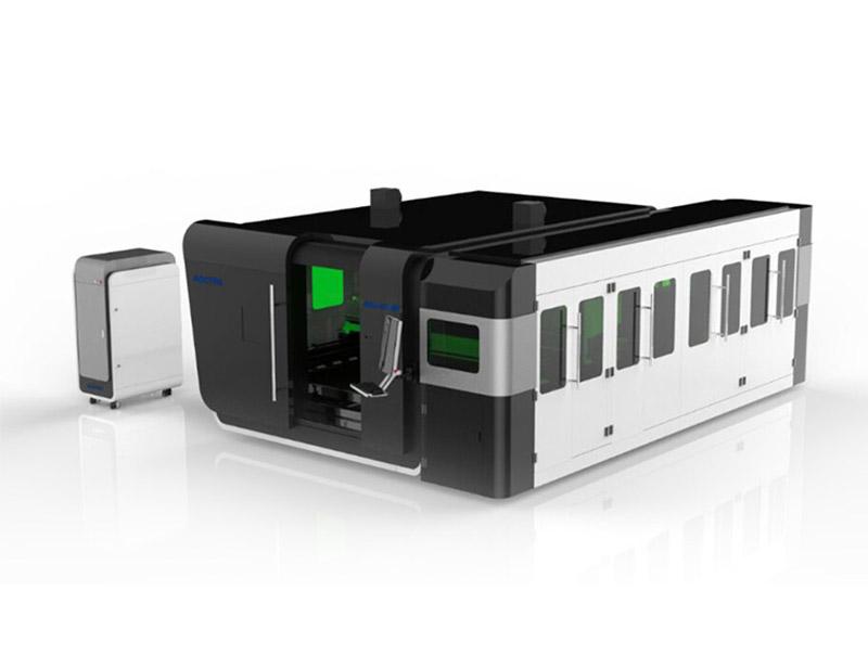 Machine de Découpe Laser à Fibre entièrement fermé AKJ1530FB