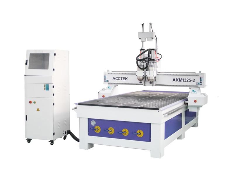 Machine de routage CNC à têtes doubles à haut rendement tr