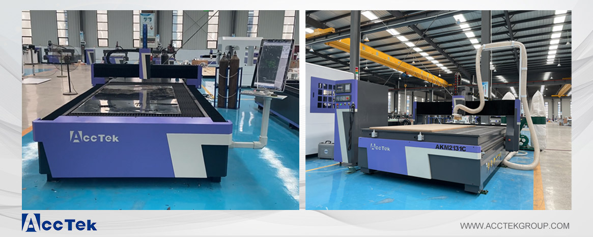 cnc router and fiber laser cutting mcahine